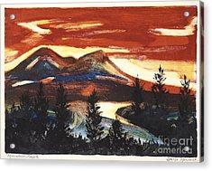 Mountain Sunset Acrylic Print by Stella Sherman