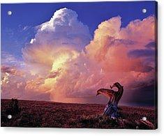 Mountain Thunder Shower Acrylic Print