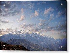 Mountain Top Acrylic Print by Athala Carole Bruckner