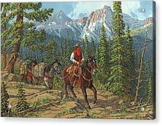 Mountain Traveler Acrylic Print by Randy Follis