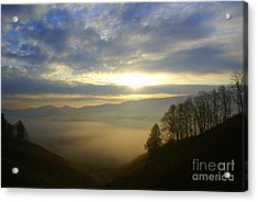 Mountain Valley Sunrise Acrylic Print