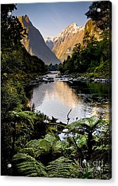 Mountain Valley Acrylic Print by Tim Hester