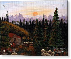 Mountain View Acrylic Print by Barbara Griffin