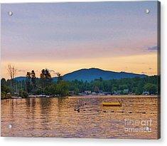 Mountain View Acrylic Print by Judy Via-Wolff