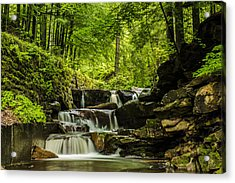 Acrylic Print featuring the photograph Mountain Waterfall by Jaroslaw Grudzinski