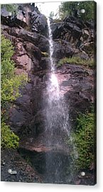 Acrylic Print featuring the photograph Mountain Waterfall by Fortunate Findings Shirley Dickerson
