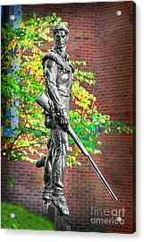 Acrylic Print featuring the photograph Mountaineer Statue by Dan Friend