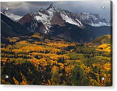 Mountainous Storm Acrylic Print by Darren  White