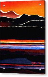 Mountains Abstract Acrylic Print by Karon Melillo DeVega