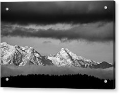Mountains And Clouds Acrylic Print