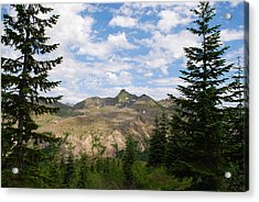 Acrylic Print featuring the photograph Mountains And Fir Trees by Robert  Moss