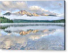 Mountains And Fog Acrylic Print