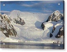 Mountains And Glacier At Sunset Acrylic Print by Suzi Eszterhas