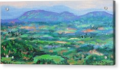 Mountains And Valleys- Summertime Along The Blue Ridge Parkway Acrylic Print