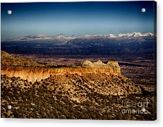 Mountains At Senator Clinton P. Anderson Scenic Route Overlook  Acrylic Print