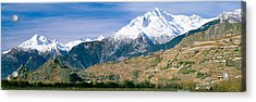 Mountains, Canton Of Valais, Switzerland Acrylic Print by Panoramic Images