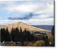 Mountains For And Aft Acrylic Print by Ron Torborg