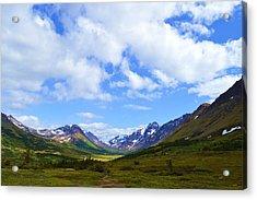 Mountains In Anchorage Alaska Acrylic Print by Dacia Doroff