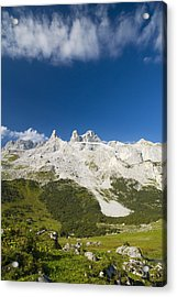 Mountains In The Alps Acrylic Print by Chevy Fleet