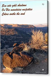 Acrylic Print featuring the photograph Mountains Majesties by Tom DiFrancesca