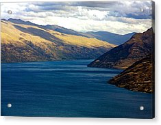 Acrylic Print featuring the photograph Mountains Meet Lake #2 by Stuart Litoff