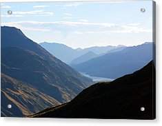 Acrylic Print featuring the photograph Mountains Meet Lake #3 by Stuart Litoff
