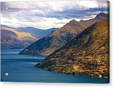 Acrylic Print featuring the photograph Mountains Meet Lake by Stuart Litoff
