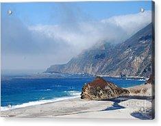 Mountains Sea Sky Acrylic Print by Boon Mee