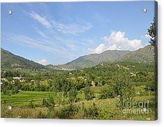 Acrylic Print featuring the photograph Mountains Sky And Clouds Swat Valley Pakistan by Imran Ahmed