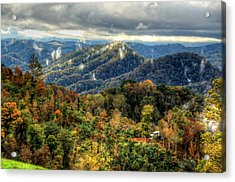 Mountains Smoking Acrylic Print by Heavens View Photography