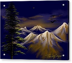 Mountains Acrylic Print by Twinfinger