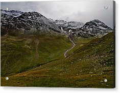Mountainscape With Snow Acrylic Print