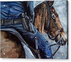 Mounted Patrol Acrylic Print
