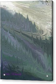 Acrylic Print featuring the painting Mountian Magic by Linda Whiteside