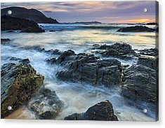 Acrylic Print featuring the photograph Mourillar Beach Galicia Spain by Pablo Avanzini