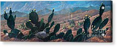 Acrylic Print featuring the painting Mourning Dove Desert Sands by Rob Corsetti