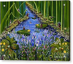 Mouse Pad Acrylic Print by Jennifer Lake