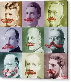 Moustaches Acrylic Print by Tony Rubino
