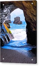 Mouth Of The Magician's Cave - California Coast Acrylic Print by Mark E Tisdale