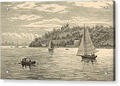 Mouth Of The Shrewsbury River 1872 Engraving Acrylic Print by Antique Engravings