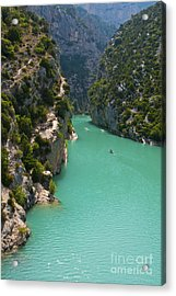 Mouth Of The Verdon River  Acrylic Print by Bob Phillips
