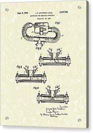 Mouthpiece 1964 Patent Art Acrylic Print