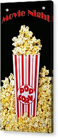 Movie Night Pop Corn Acrylic Print