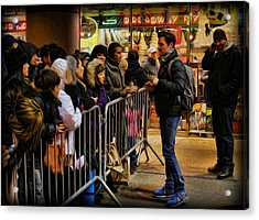 Movie Stars - The Artist Signing Autographs Acrylic Print by Lee Dos Santos