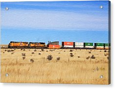Moving America Across The Heartland Acrylic Print by Donna Kennedy