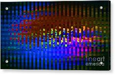Moving Through Currents Acrylic Print by Cedric Hampton