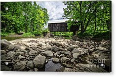 Moxley Covered Bridge Chelsea Vermont Acrylic Print