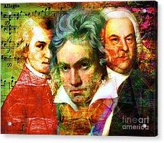 Mozart Beethoven Bach 20140128 Acrylic Print