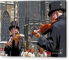 Acrylic Print featuring the photograph Mozart In Masquerade by Ann Horn