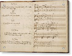 Mozart's Thematic Catalogue Acrylic Print by British Library